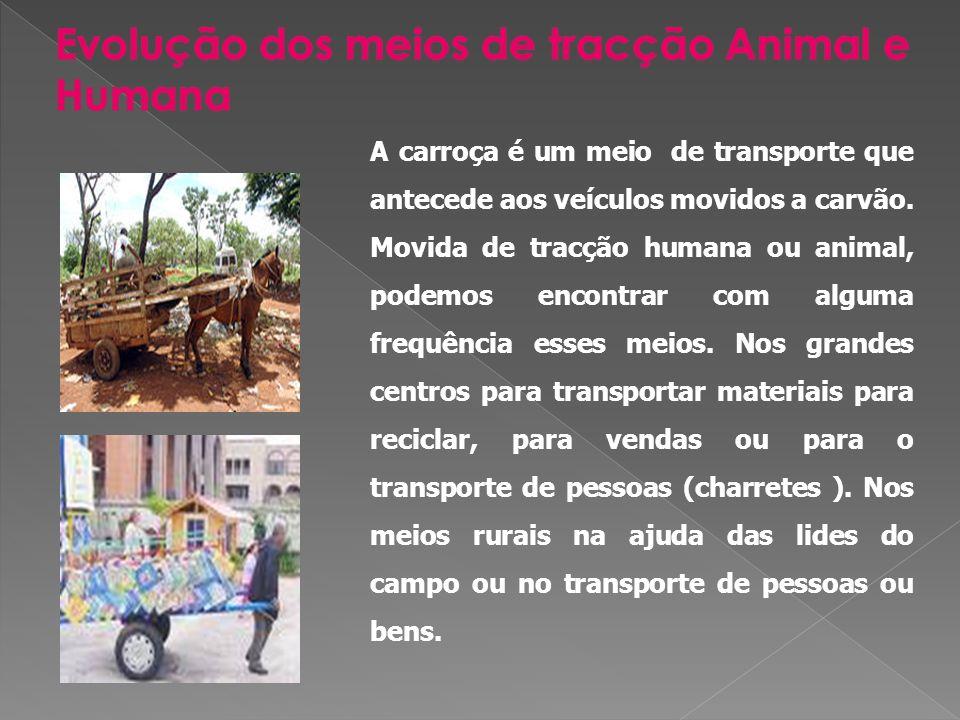Veículo de carruagem ou vagão ligados entre si, é usado para o transporte de pessoas ou bens.