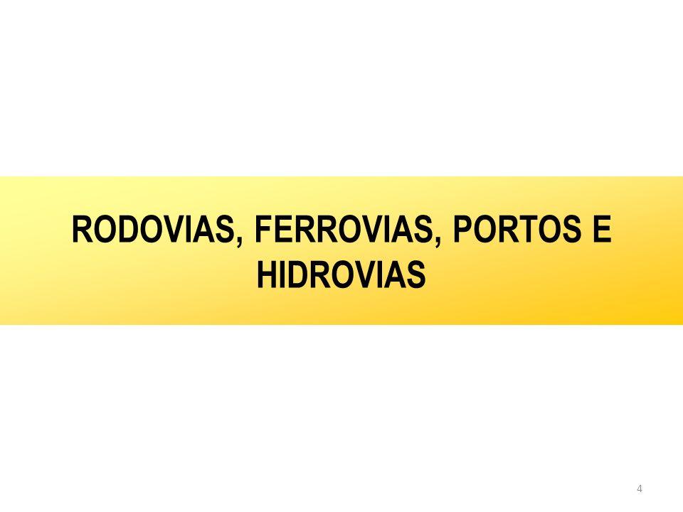 4 RODOVIAS, FERROVIAS, PORTOS E HIDROVIAS