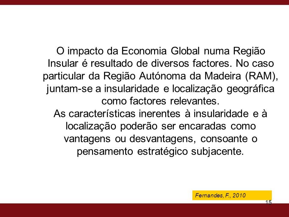 Fernandes, F., 2009 15 O impacto da Economia Global numa Região Insular é resultado de diversos factores. No caso particular da Região Autónoma da Mad