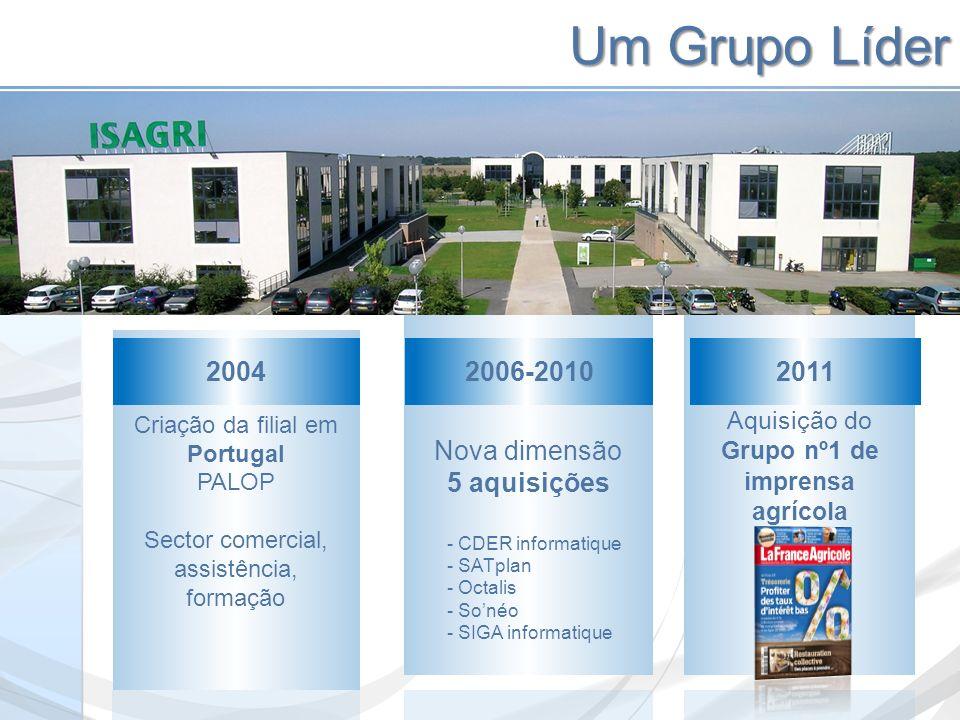 Um Grupo Líder Criação da filial em Portugal PALOP Sector comercial, assistência, formação 2004 Nova dimensão 5 aquisições 2006-2010 - CDER informatiq