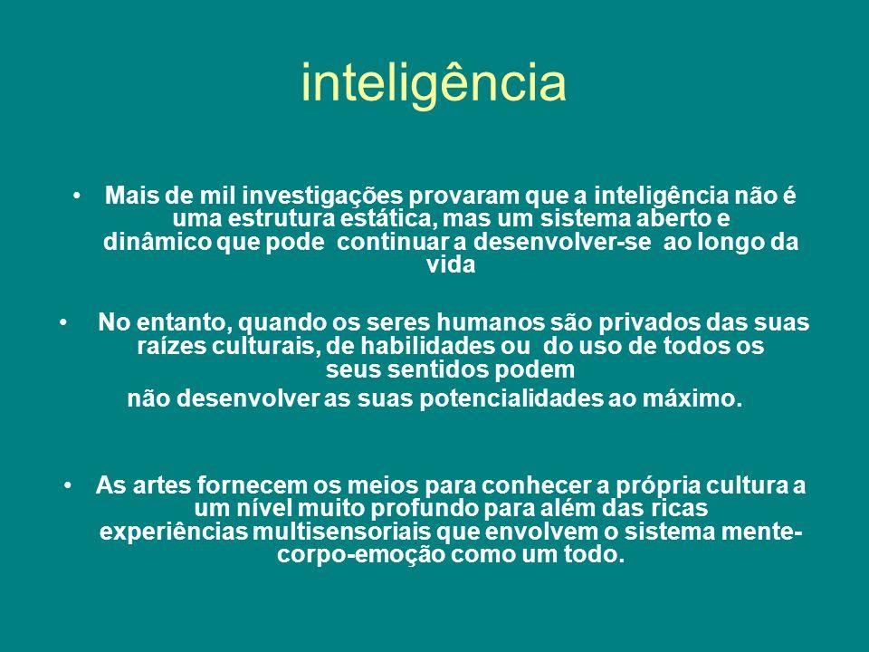 inteligência Mais de mil investigações provaram que a inteligência não é uma estrutura estática, mas um sistema aberto e dinâmico que pode continuar a