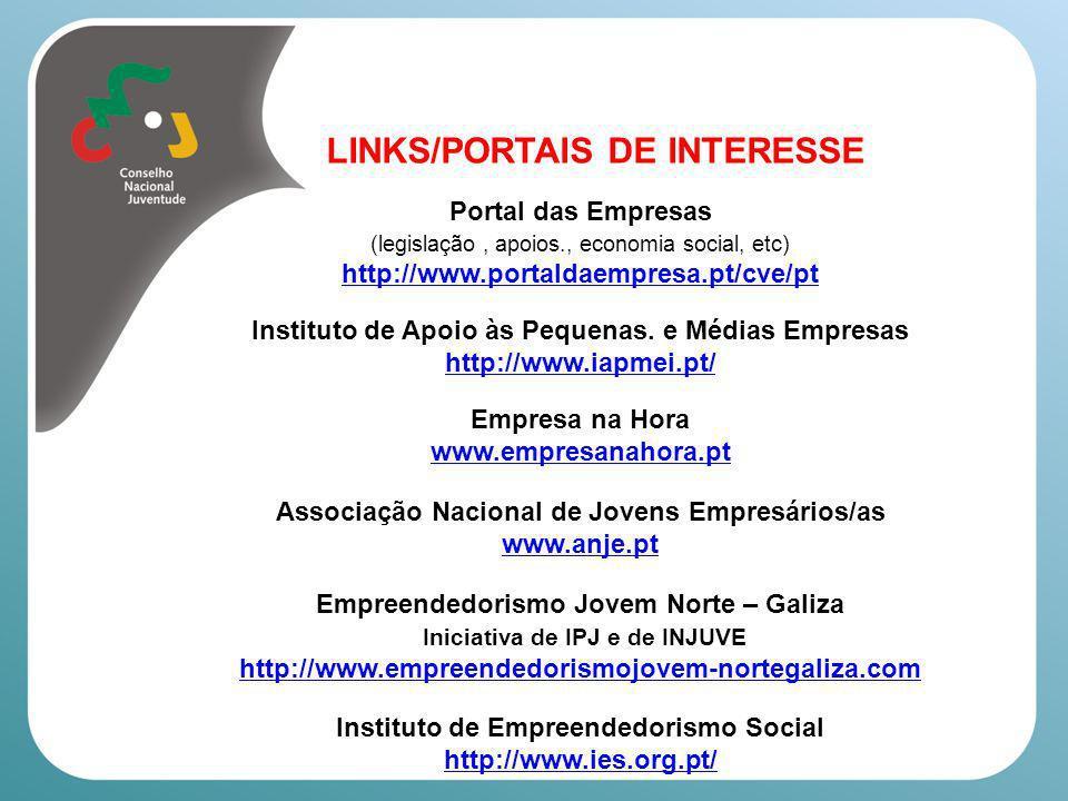 LINKS/PORTAIS DE INTERESSE Guia do Desemprego (Revista Visão) http://clix.visao.pt/guia-do-desempregado=f589622 Autoridade para as Condições do Trabalho (ACT) www.act.gov.pt Comissão para a Igualdade no Trabalho e no Emprego http://www.cite.gov.pt/ Portal para a Igualdade www.igualdade.gov.pt Comissão para a Cidadania e Igualdade de Género www.cig.gov.pt Alto Comissariado para a Imigração e Diálogo Intercultural http://www.acidi.gov.pt/ Organização Internacional do Trabalho – Portugal http://www.ilo.org/public/portugue/region/eurpro/lisbon/index.htm