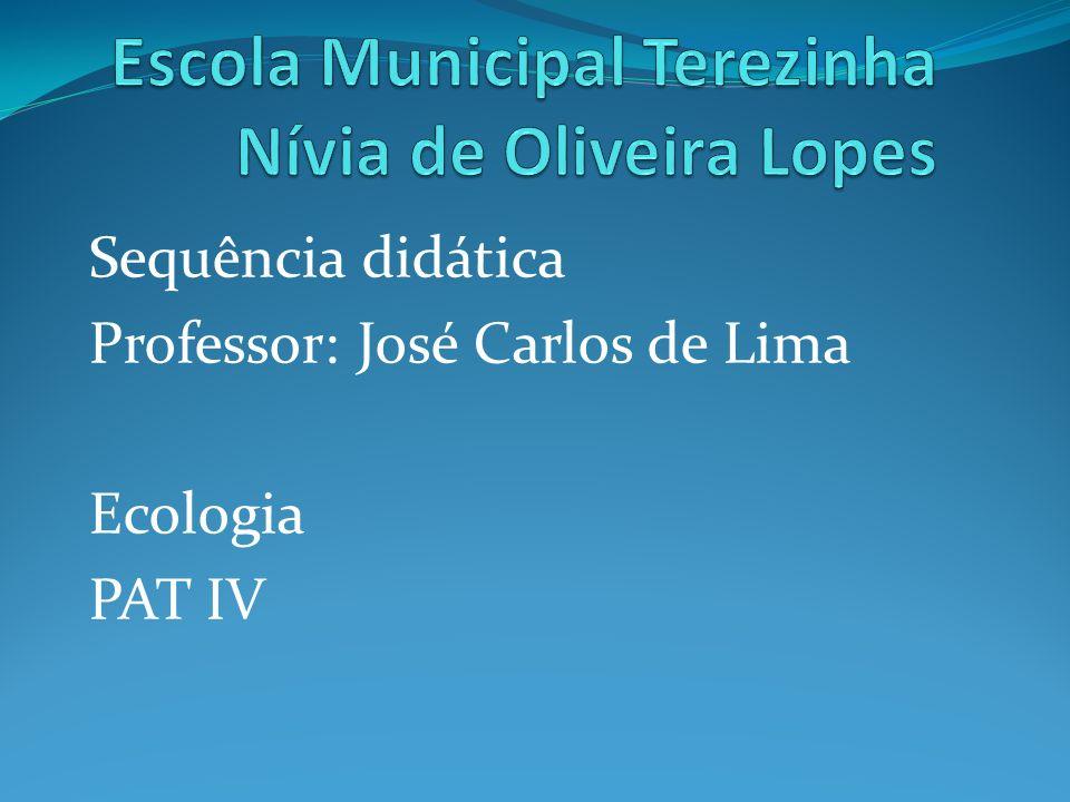 Sequência didática Professor: José Carlos de Lima Ecologia PAT IV