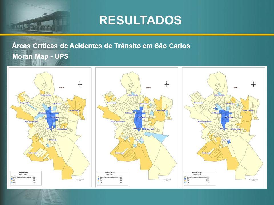 Moran Map - UPS Áreas Críticas de Acidentes de Trânsito em São Carlos RESULTADOS
