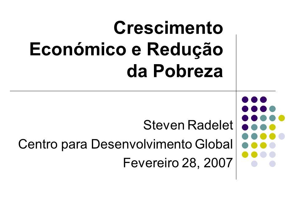 Crescimento Económico e Redução da Pobreza Steven Radelet Centro para Desenvolvimento Global Fevereiro 28, 2007