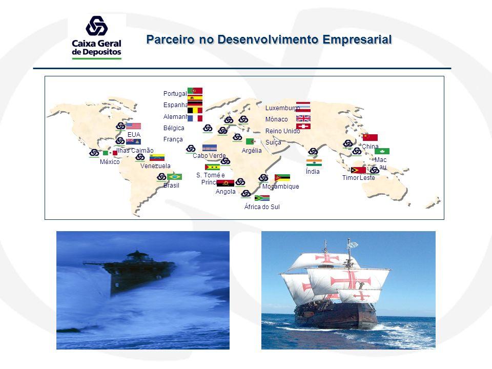 Parceiro no Desenvolvimento Empresarial Portugal Espanha Alemanha Bélgica França Angola Cabo Verde Moçambique S. Tomé e Príncipe África do Sul Brasil