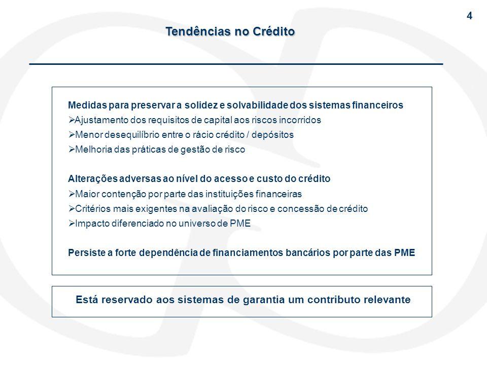 Medidas para preservar a solidez e solvabilidade dos sistemas financeiros Ajustamento dos requisitos de capital aos riscos incorridos Menor desequilíb