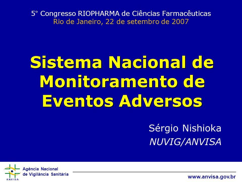Agência Nacional de Vigilância Sanitária www.anvisa.gov.br 5° Congresso RIOPHARMA de Ciências Farmacêuticas Rio de Janeiro, 22 de setembro de 2007 Sis
