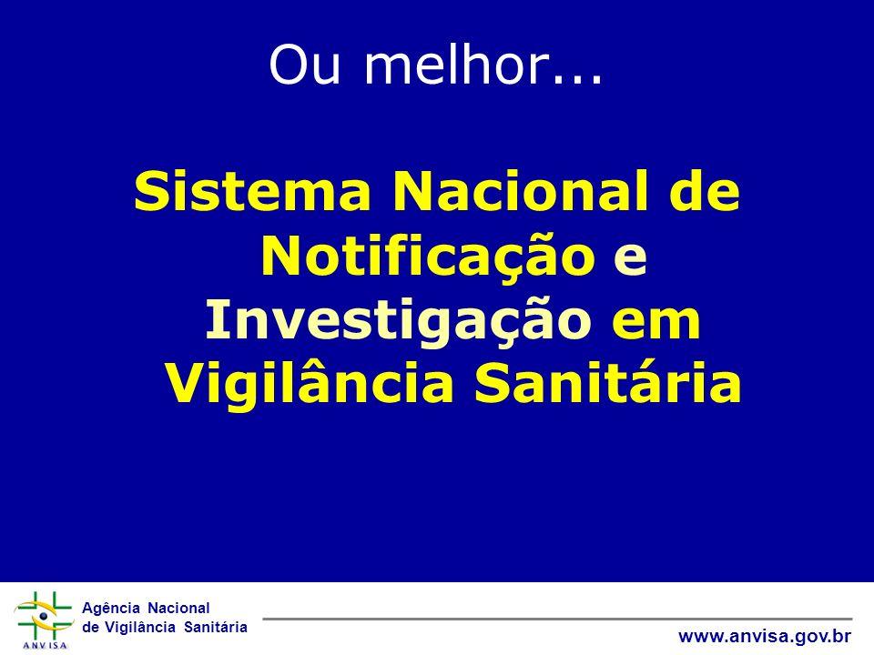 Agência Nacional de Vigilância Sanitária www.anvisa.gov.br Ou melhor... Sistema Nacional de Notificação e Investigação em Vigilância Sanitária