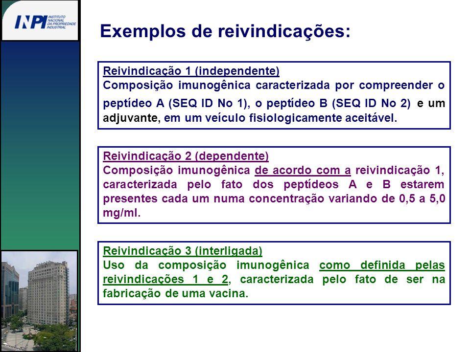 Reivindicação 1 (independente) Composição imunogênica caracterizada por compreender o peptídeo A (SEQ ID No 1), o peptídeo B (SEQ ID No 2) e um adjuva