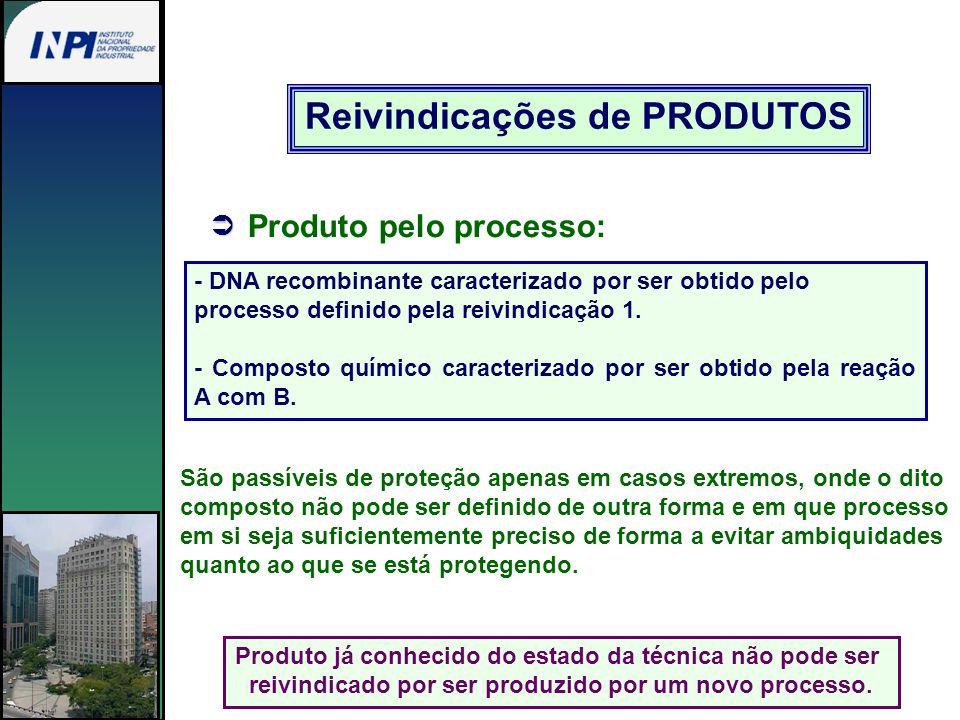 Reivindicações de PRODUTOS Produto pelo processo: - DNA recombinante caracterizado por ser obtido pelo processo definido pela reivindicação 1. - Compo