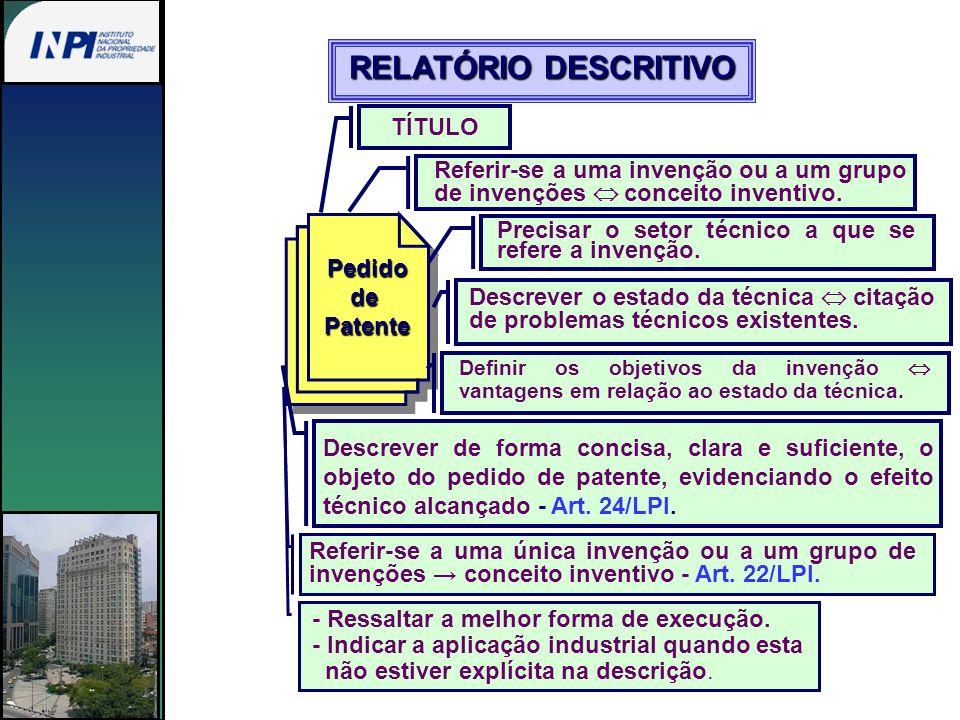 Pedido de Patente Reivindicações A invenção é definida pelas reivindicações.