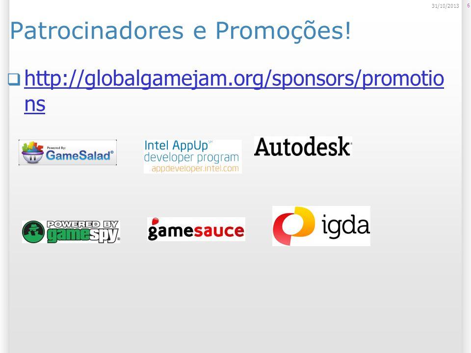Patrocinadores e Promoções.