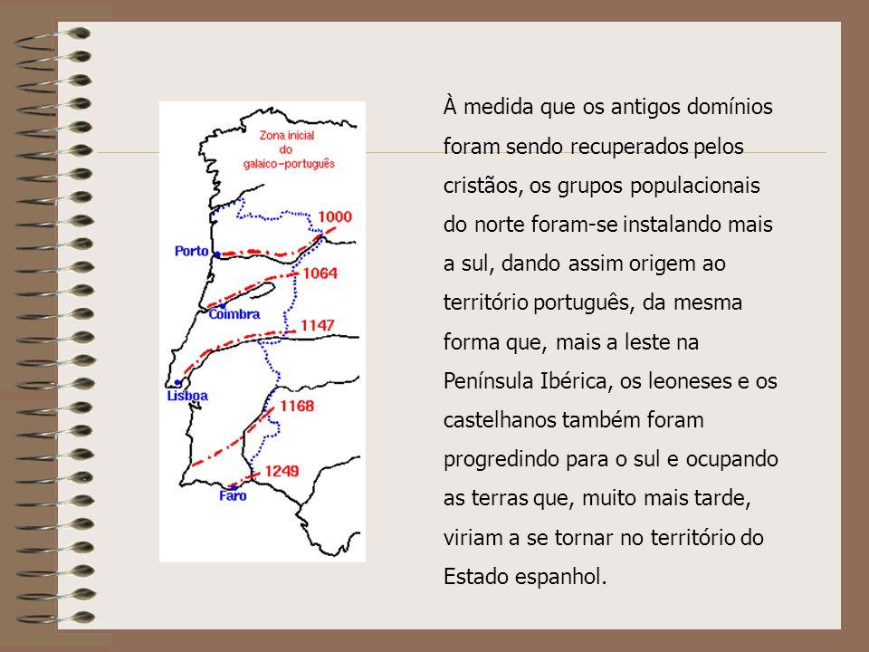 À medida que os cristãos avançam para o sul, os dialectos do norte interagem com os dialectos moçárabes do sul, começando o processo de diferenciação