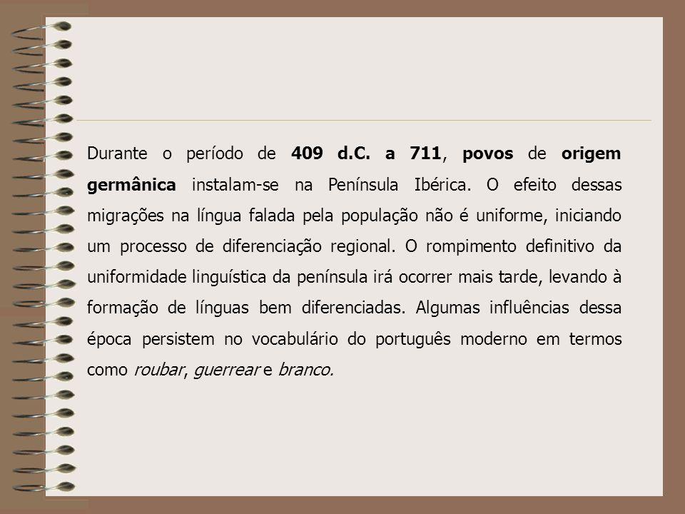 Embora a Península Ibérica fosse habitada desde muito antes da ocupação romana, pouquíssimos traços das línguas faladas por estes povos persistem no p