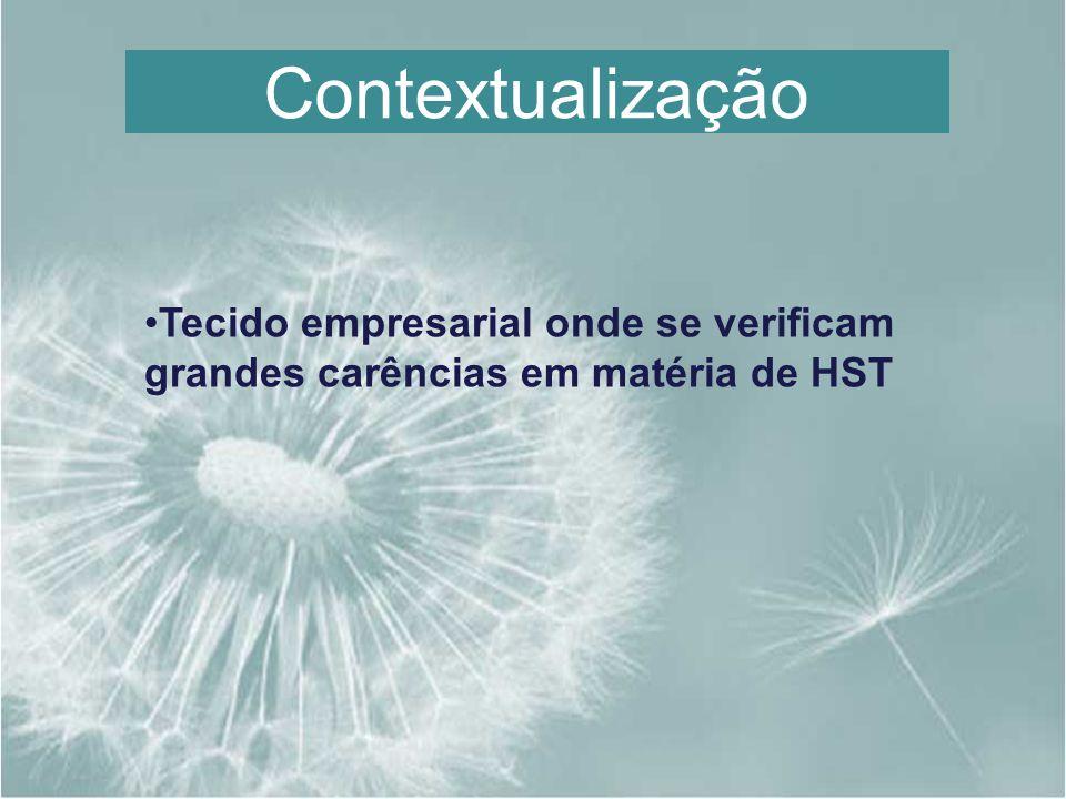 Contextualização Tecido empresarial onde se verificam grandes carências em matéria de HST