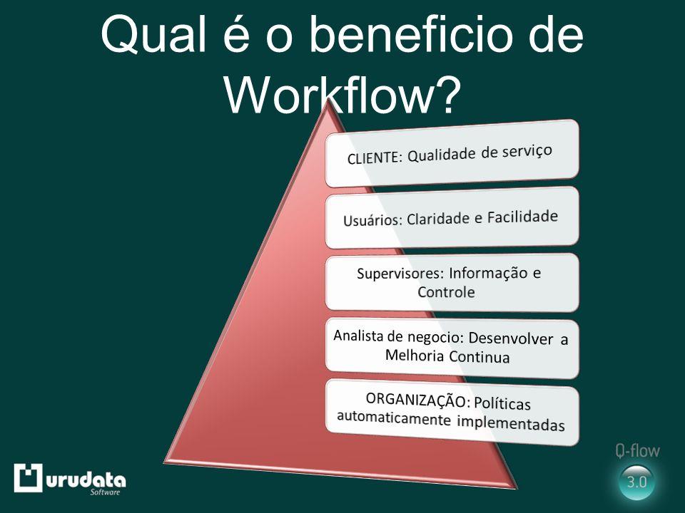 Qual é o beneficio de Workflow?
