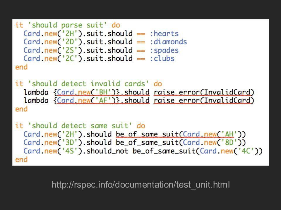 RSpec on Rails Permite testar camadas isoladas: – Model – Controller – View – Helper Testes de aceitação com Histórias