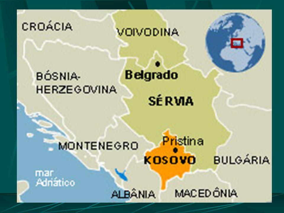 Independência do Kosovo Em reunião extraordinária do Parlamento, o Kosovo declarou em janeiro de 2008, sua independência da Sérvia. A decisão, unilate
