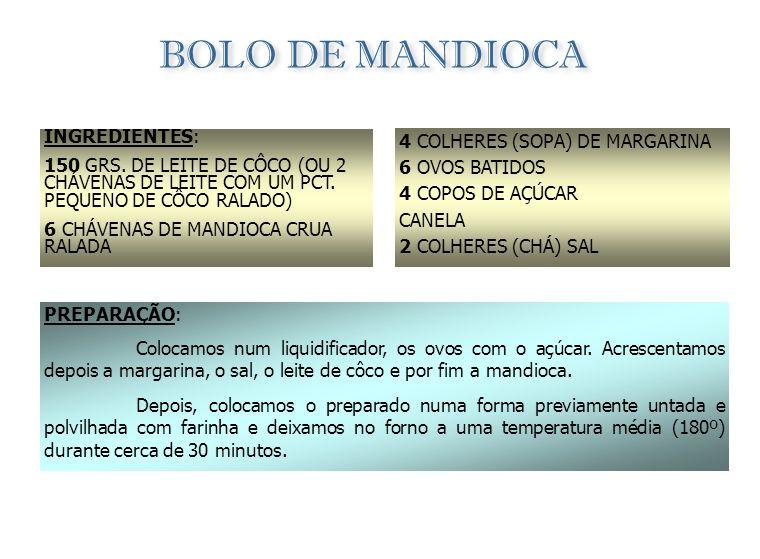 DIONGO DE BANANA INGREDIENTES: 8 BANANAS 70 GRS. DE MANTEIGA CANELA PARA POLVILHAR MEL PREPARAÇÃO: Depois de descascarmos as bananas, colocamos num ta