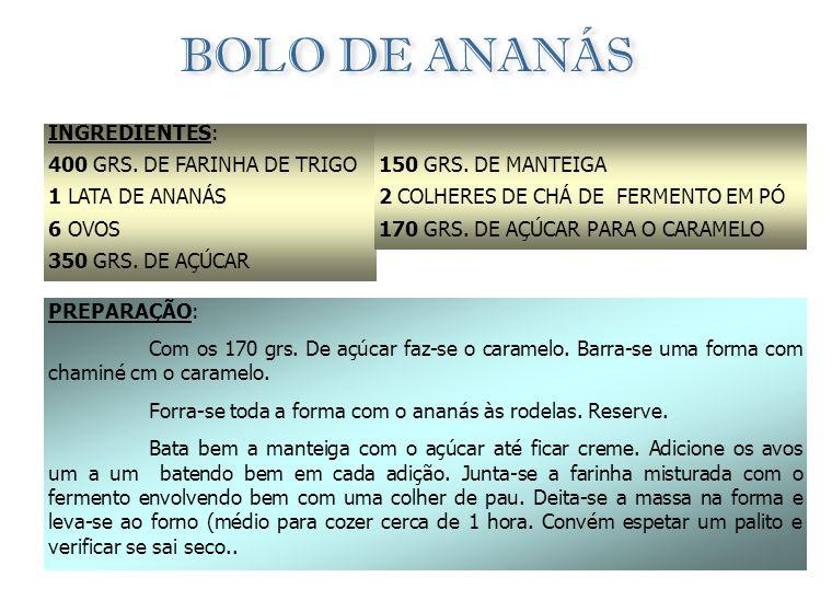 BOLO DE GOIABA INGREDIENTES: 150 GRS. DE FARINHA DE TRIGO 4 COLHERES (SOPA) DE MARGARINA 1 COLHER (SOPA FERMENTO ROYAL 3 COLHERES (SOPA) DE AÇÚCAR ½ C