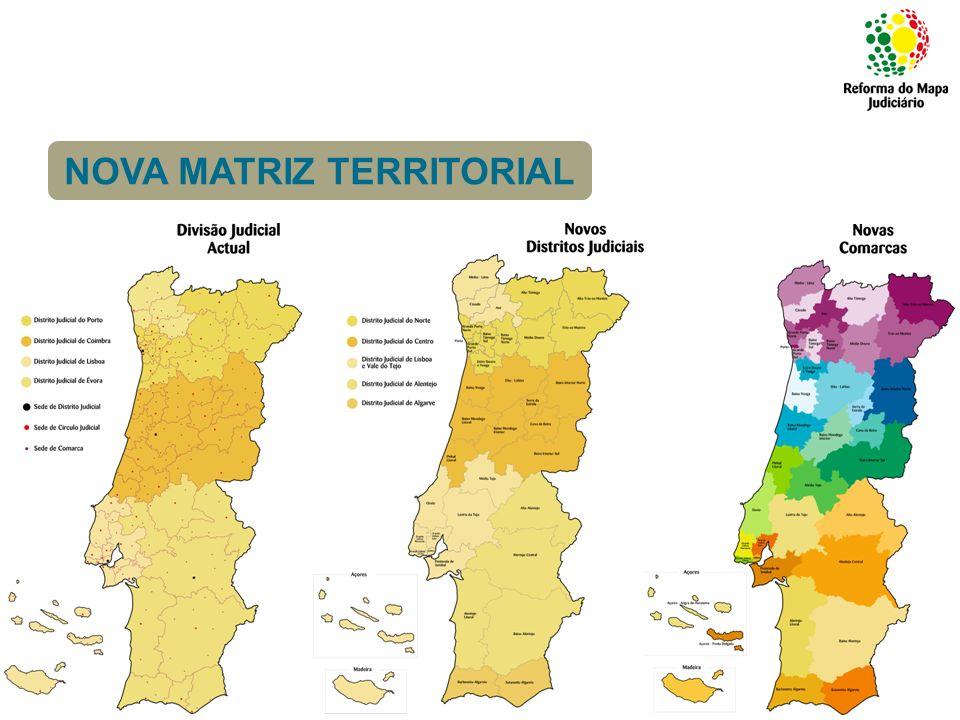 Comarcas Piloto: Implementação da Reforma do Mapa Judiciário (a partir de 2009) > Alentejo Litoral > Grande Lisboa Noroeste > Baixo Vouga NOVA MATRIZ TERRITORIAL