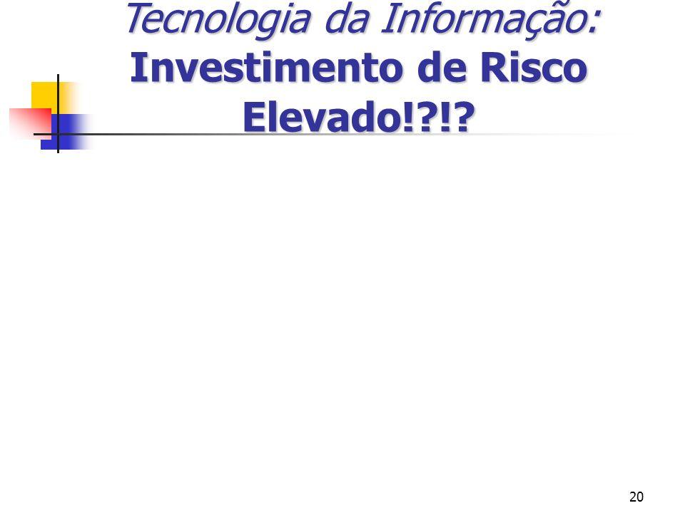 20 Tecnologia da Informação: Investimento de Risco Elevado!?!?