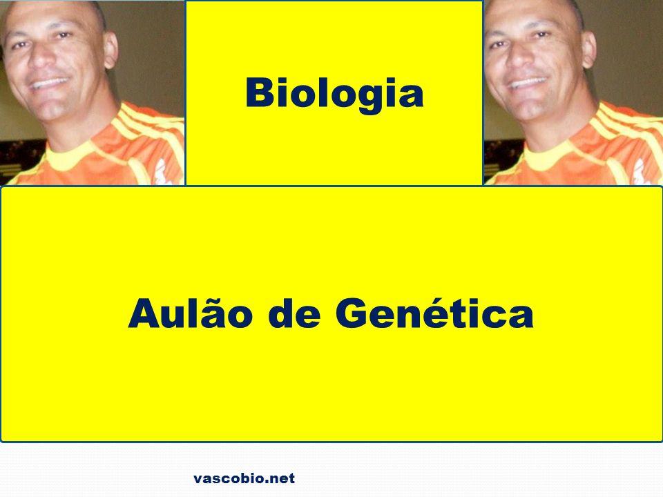 vascobio.net Em camundongos AA – letal A – amarela a – aguti Amarela x Amarela Aa x AAAa aa morre 1/3