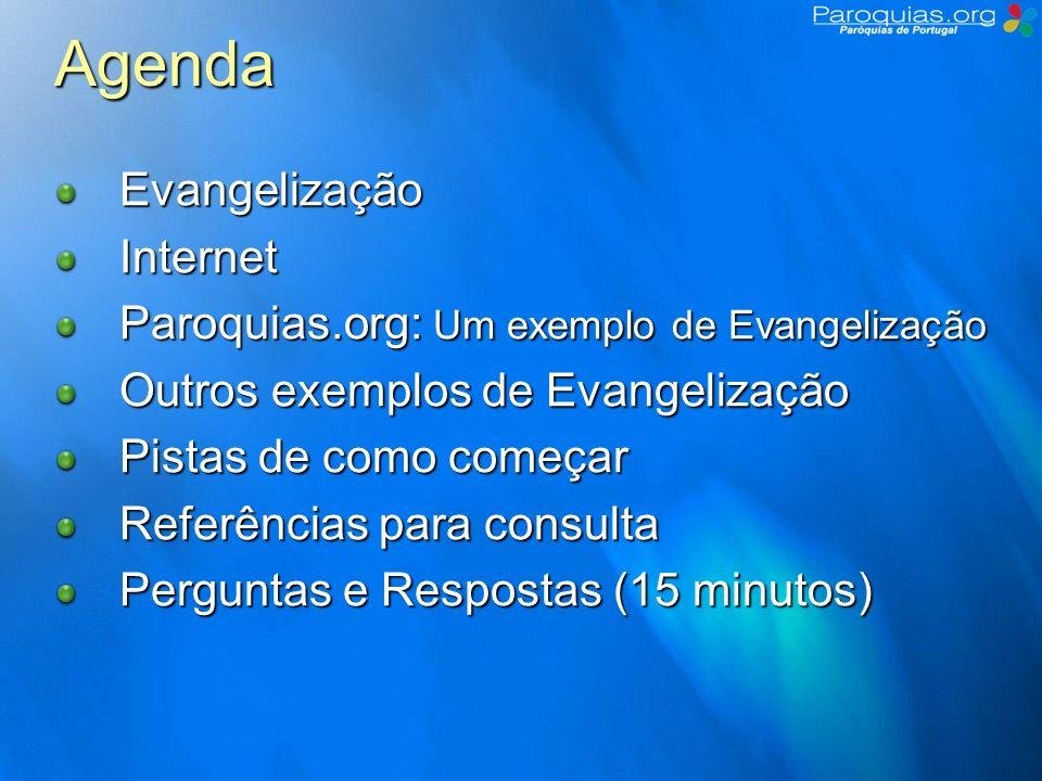 Evangelização e Internet Por onde começar Objectivos – O que quero fazer.