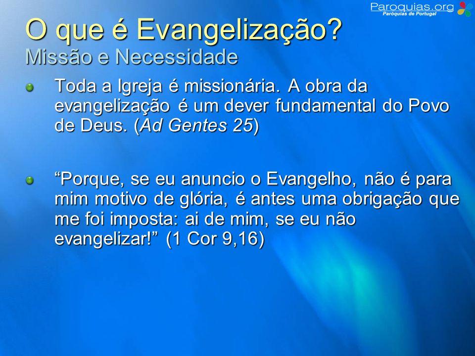 O que é Evangelização.Como evangelizar.