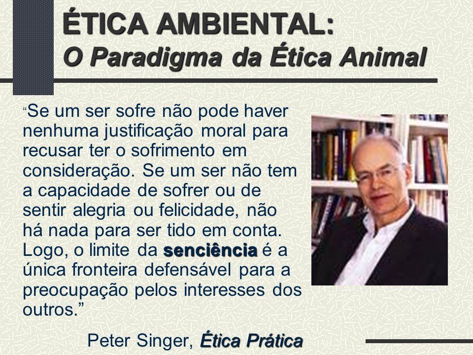 ÉTICA AMBIENTAL: O Paradigma da Ética Animal 1.