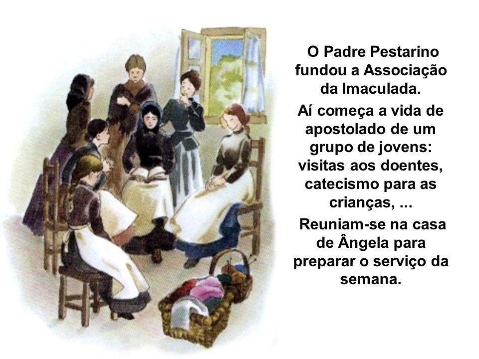 O Padre Pestarino fundou a Associação da Imaculada. Aí começa a vida de apostolado de um grupo de jovens: visitas aos doentes, catecismo para as crian