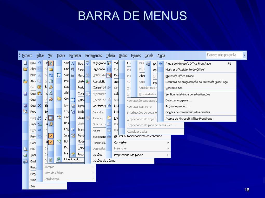 18 BARRA DE MENUS