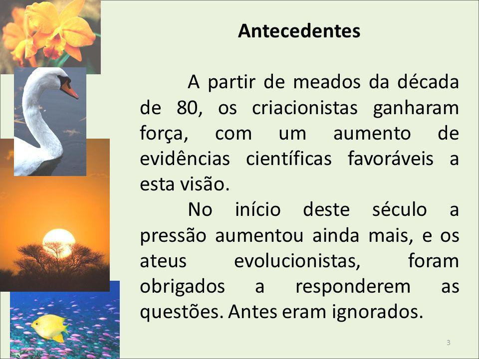Nos últimos anos, aqui no Brasil, destacamos dois lançamentos evolucionistas e dois criacionistas.