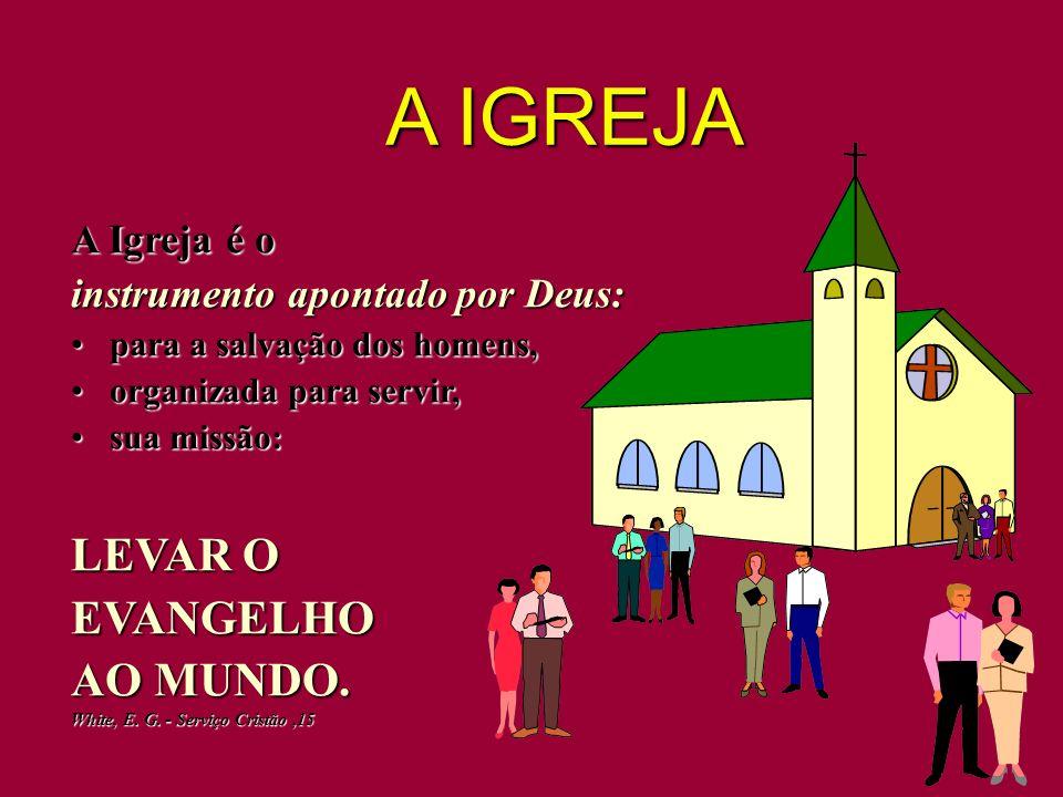 A Igreja é o instrumento apontado por Deus: para a salvação dos homens, para a salvação dos homens, organizada para servir, organizada para servir, su