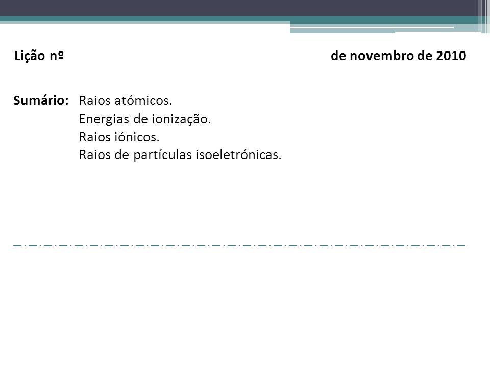 Lição nº de novembro de 2010