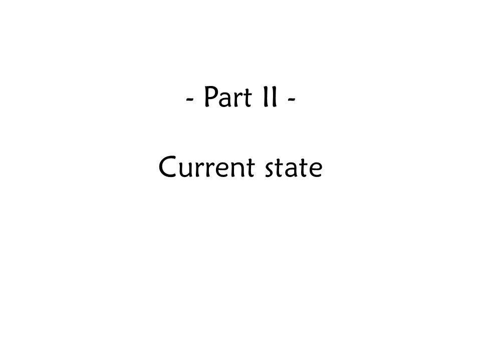 - Part II - Current state