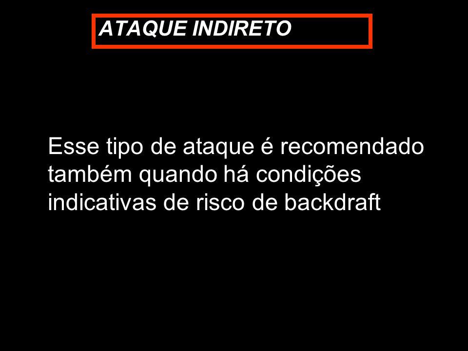 Esse tipo de ataque é recomendado também quando há condições indicativas de risco de backdraft