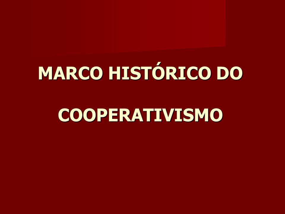 MARCO HISTÓRICO DO COOPERATIVISMO