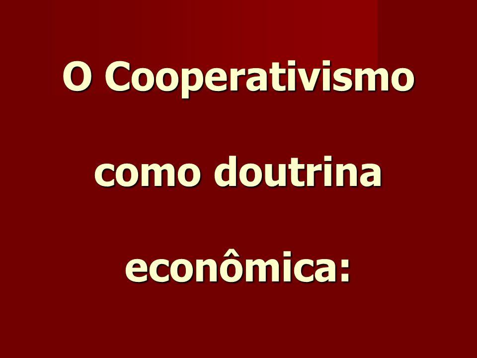 O Cooperativismo como doutrina econômica:
