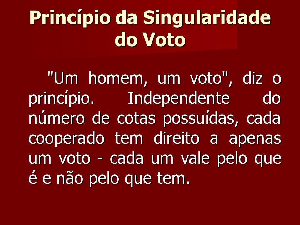 Um homem, um voto , diz o princípio.