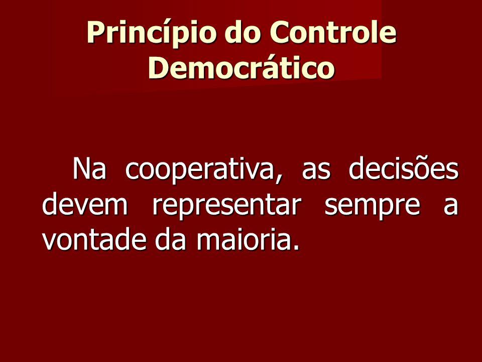 Na cooperativa, as decisões devem representar sempre a vontade da maioria.