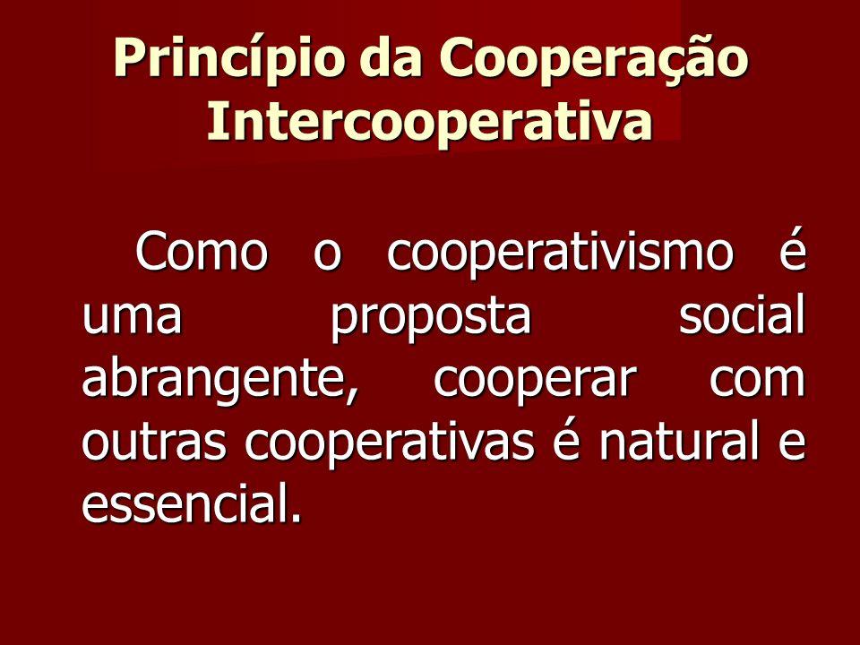 Como o cooperativismo é uma proposta social abrangente, cooperar com outras cooperativas é natural e essencial.