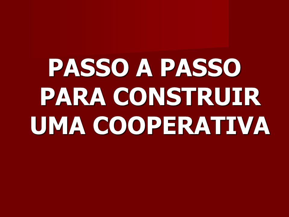 PASSO A PASSO PARA CONSTRUIR UMA COOPERATIVA