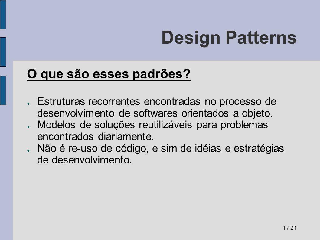 Design Patterns Diagrama UML do Facade Facade é a classe que provê uma interface simples para um subsistema complexo.