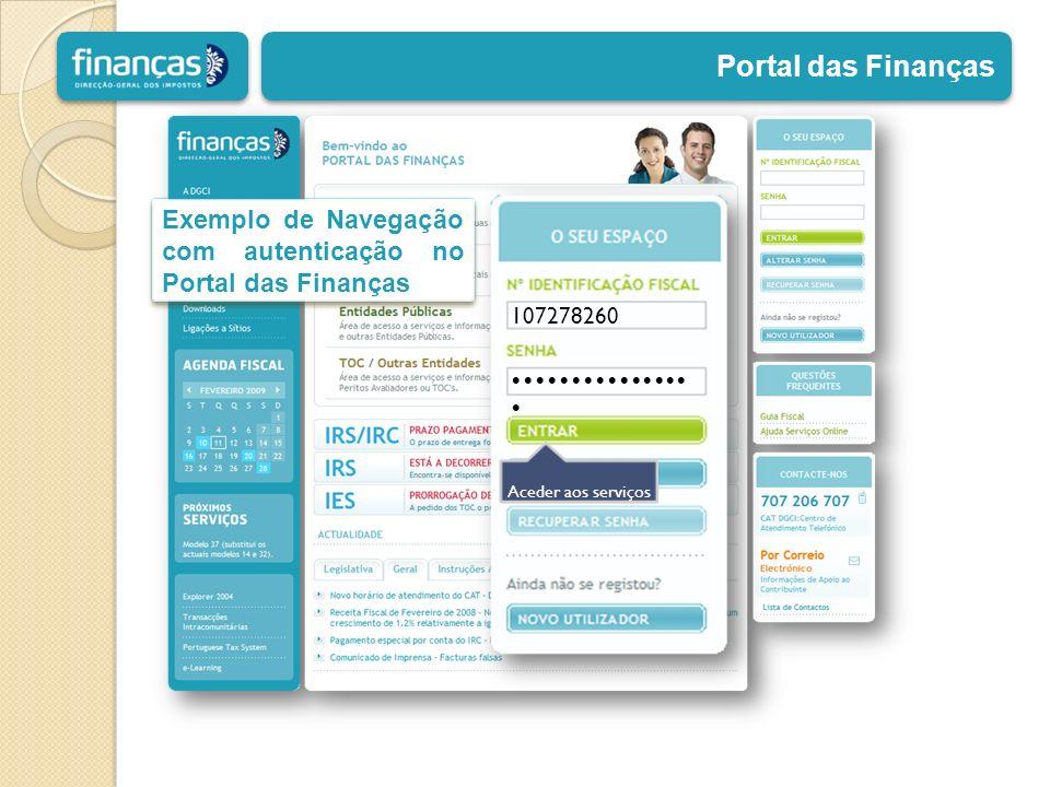 107278260 Aceder aos serviços Exemplo de Navegação com autenticação no Portal das Finanças