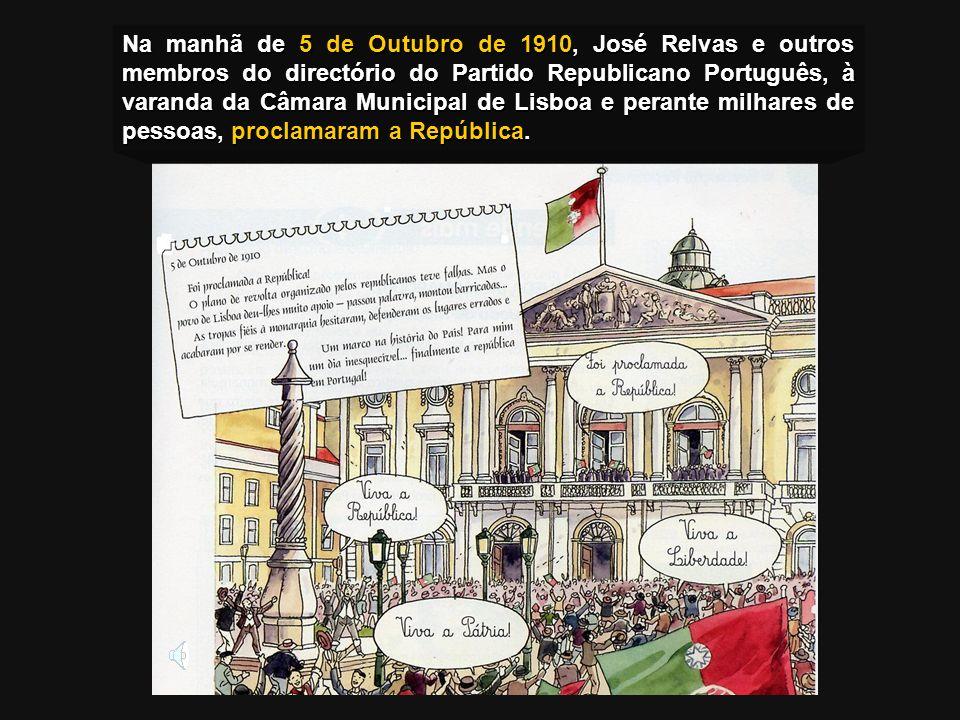 A Revolução Republicana Bombardeamento do Palácio Real pelos republicanos. Bombardeamento do Palácio Real pelos republicanos. Fuga do rei D. Manuel II