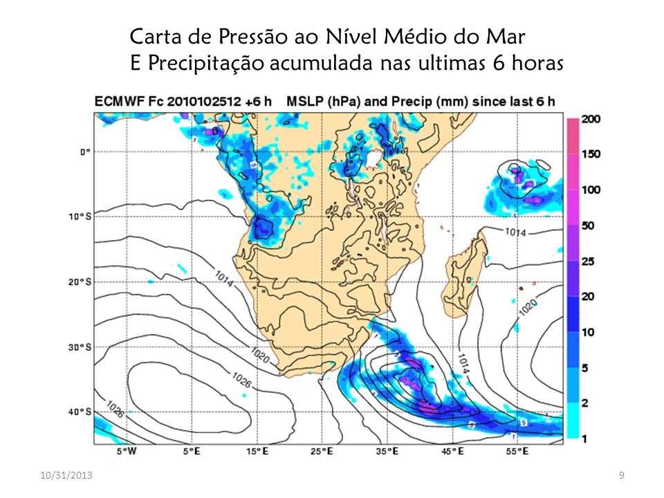 10/31/201320 Previsão Probabilística: NOAA/NCEP EPS