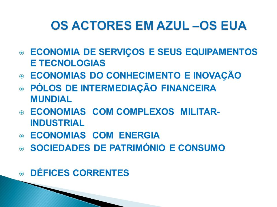 ECONOMIAS INDUSTRIAIS EXPORTADORAS ECONOMIAS DE COMPETÊNCIAS & CONHECIMENTOS ESPECIALIZADOS ECONOMIAS SEM ARMAS & ECONOMIAS SEM RECURSOS ENERGÉTICOS SOCIEDADES COM ELEVADAS POUPANÇAS ECONOMIAS COM EXCEDENTES CORRENTES PERMANENTES