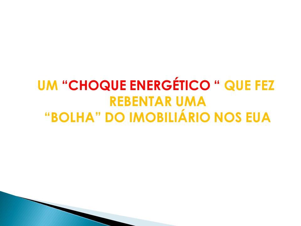 PRIMEIRO PROCESSO UM CHOQUE ENERGÉTICO, DETERMINADO PELA SITUAÇÃO ANTECIPADA DO MERCADO DO PETRÓLEO: UM DESEQUILÍBRIO DURADOURO ENTRE PROCURA E OFERTA AMPLIADO POR UMA INTENSA ESPECULAÇÃO EM TORNO DO PREÇO DO PETRÓLEO, QUE ATINGIU O CUME, APÓS O DESENCADEAR DA CRISE IMOBILÁRIA FORÇANDO A UMA ELEVAÇÃO DAS TAXAS DE JURO DE CURTO PRAZO POR PARTE DAS AUTORIDADES MONETÁRIAS, RECEOSAS DE UMA VAGA DE INFLAÇÃO